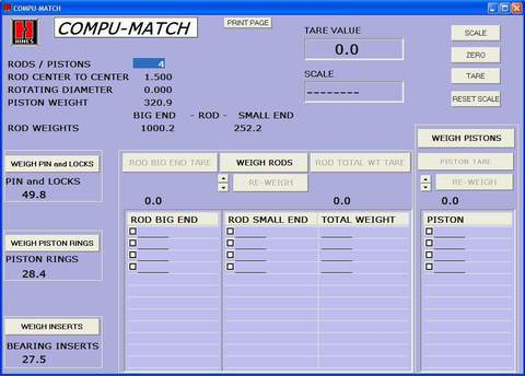 Compu-Match Rod & Piston Weight Matching